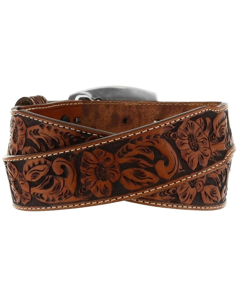 Tony Lama Kid's Lil' Champ Leather Belt, Tan, hi-res