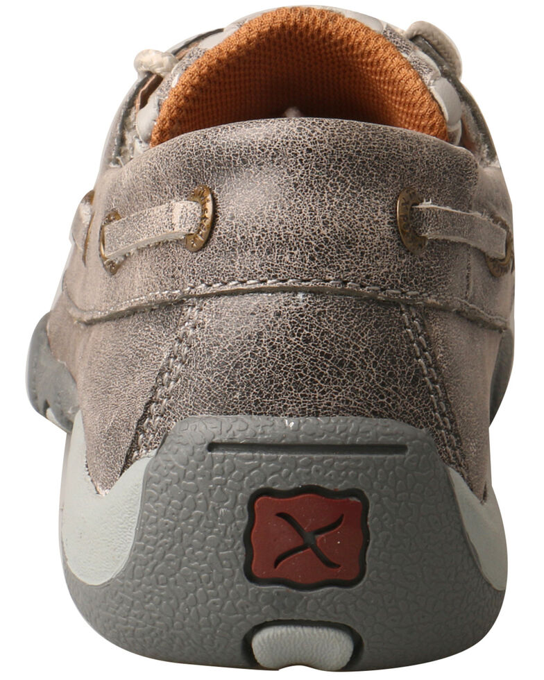 Twisted X Kids' Moccasin Driving Shoes - Moc Toe, Grey, hi-res