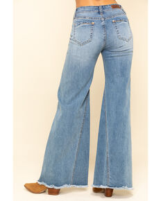 Rock & Roll Cowgirl Women's Medium High Rise Extra Flare Jeans , Blue, hi-res