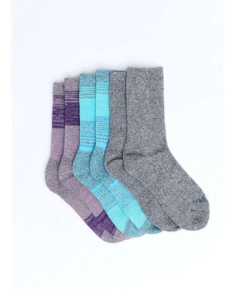 Merrell Men's Basic Socks - 3 Pack, Purple, hi-res