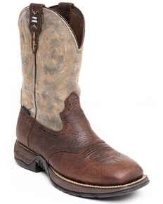 Cody James Men's Tyche Western Boots - Wide Square Toe, Brown, hi-res