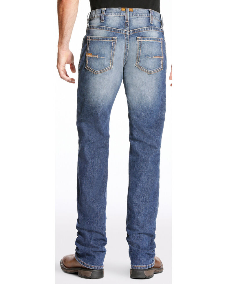 Ariat Men's Rebar M4 Edge Bootcut Work Jeans, Indigo, hi-res