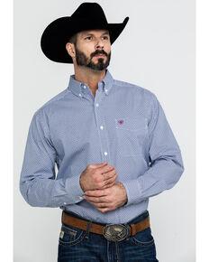 Ariat Men's Airington Stretch Geo Print Long Sleeve Western Shirt , White, hi-res