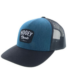HOOey Men's Navy Hometown Cursive Logo Trucker Cap, Navy, hi-res