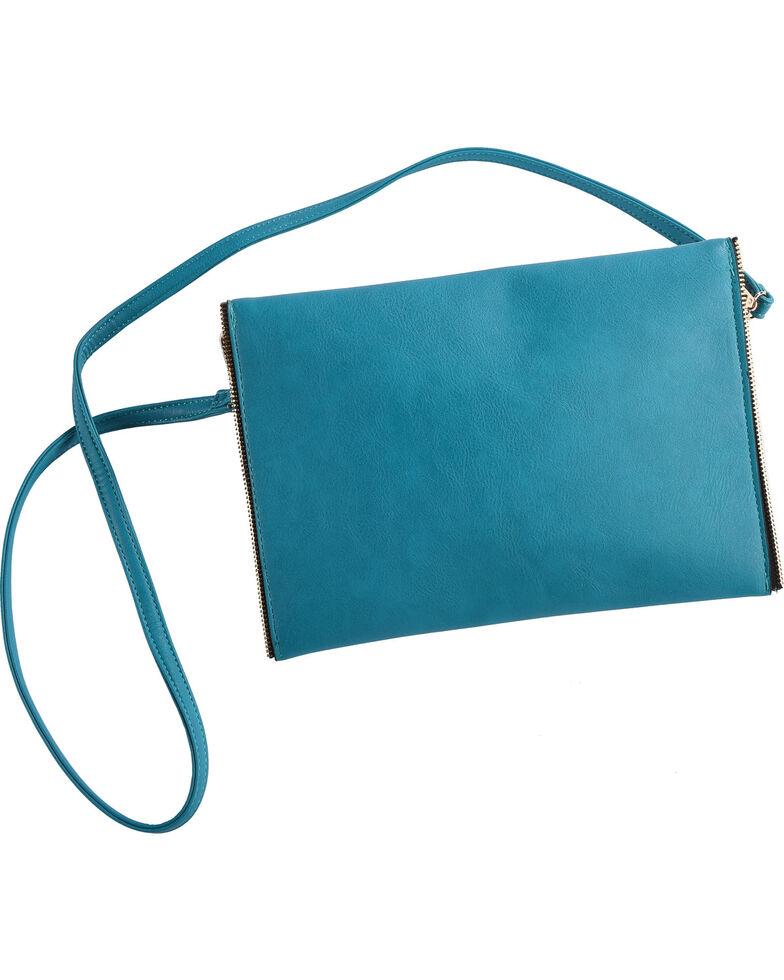 Wear N.E. Wear Women's Envelope Clutch/Crossbody Bag, Turquoise, hi-res