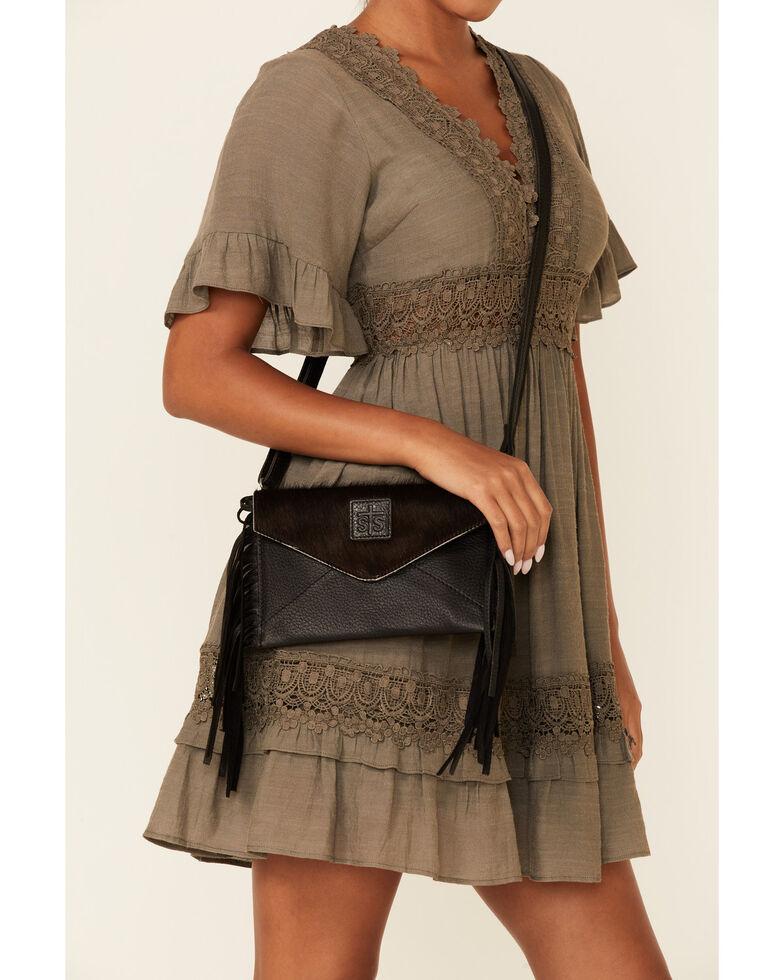 STS Ranchwear Women's Cowhide Envelope Crossbody Bag, Brown, hi-res