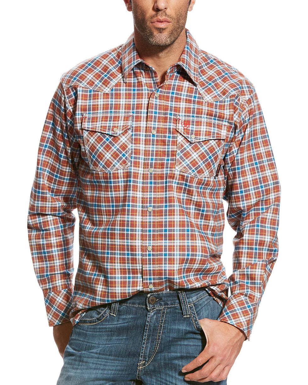 Ariat Men's Red FR Billings Retro Work Shirt , Multi, hi-res