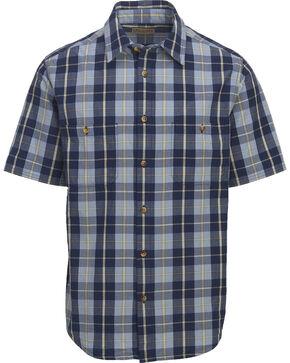 Woolrich Men's Tall Pine Ripstop Plaid Shirt , Blue, hi-res