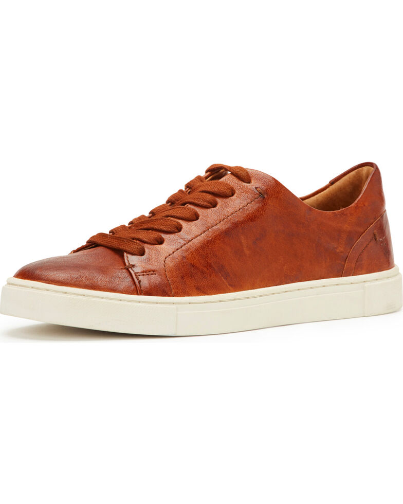 Frye Women's Cognac Ivy Low Lace Shoes , Cognac, hi-res