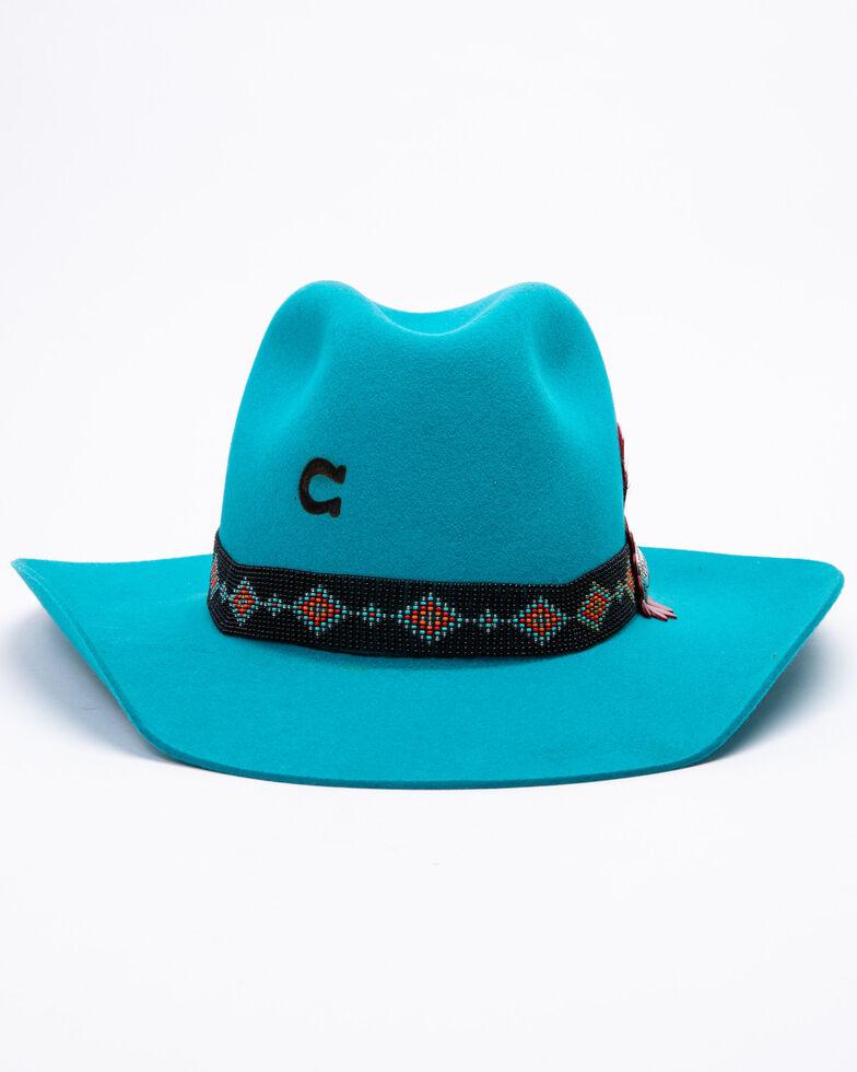 Charlie 1 Horse Women's Wild Tribe Wool Felt Hat , Turquoise, hi-res