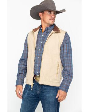 Resistol Men's Solid Open Range Zip-Up Vest , Beige/khaki, hi-res