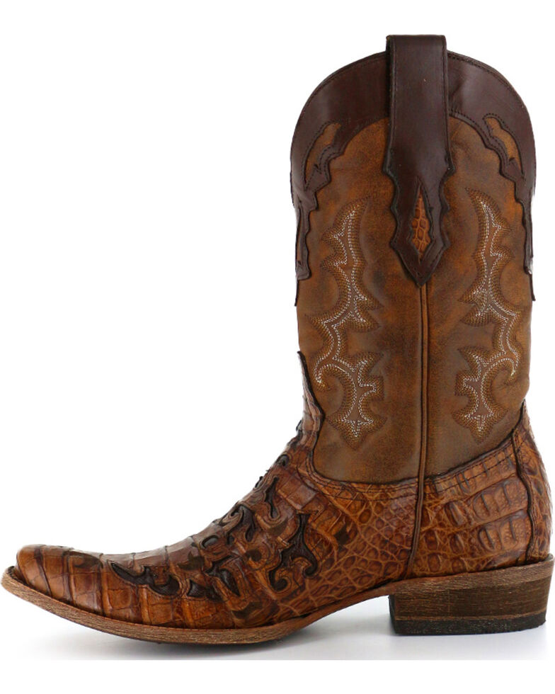 44ef9e0425c Corral Men S Square Toe Caiman Inlay Western Boots - Image ...