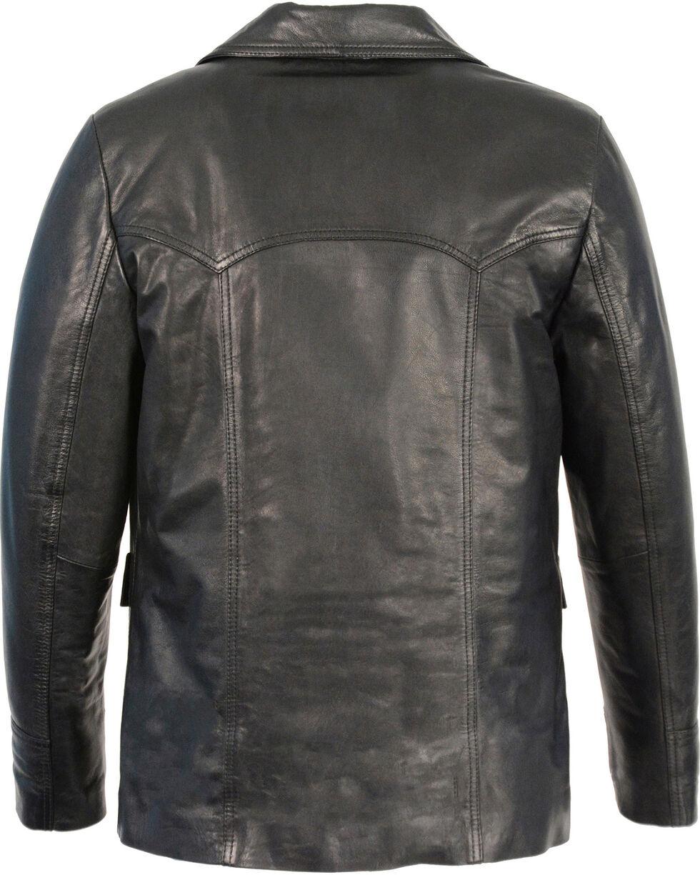 Milwaukee Leather Men's Leather Car Coat Jacket - Big 3X , , hi-res