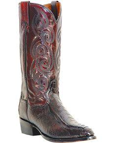 Dan Post Men's Bellevue Ostrich Leg Exotic Boots, Black Cherry, hi-res