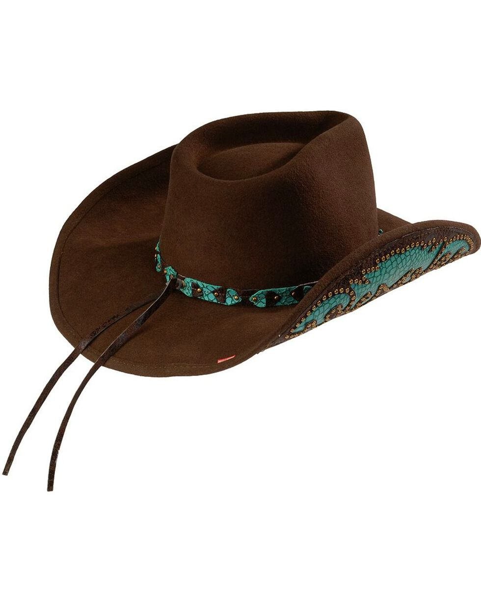 Bullhide Women's Natural Beauty Shapeable Felt Cowgirl Hat, Chocolate, hi-res