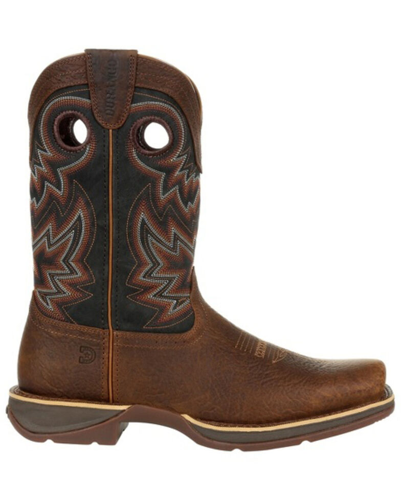 Durango Men's Rebel Chocolate Western Boots - Square Toe, Chestnut, hi-res