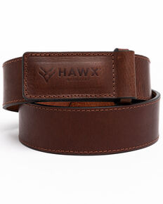 Hawx® Men's Scratchless Work Belt , Brown, hi-res