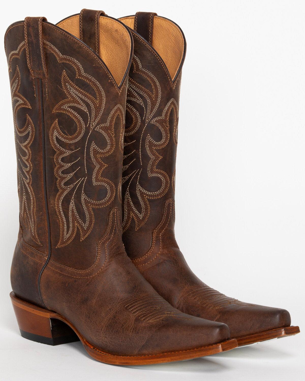 Burnt Orange Bridesmaid Dresses with Cowboy Boots