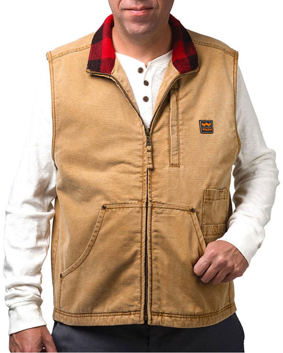 Wall's Men's Vintage Pecos Duck Vest, Brown, hi-res