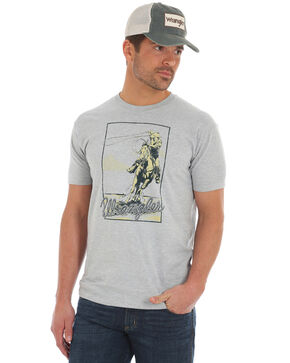 Wrangler Men's Vintage Roper T-Shirt, Heather Grey, hi-res