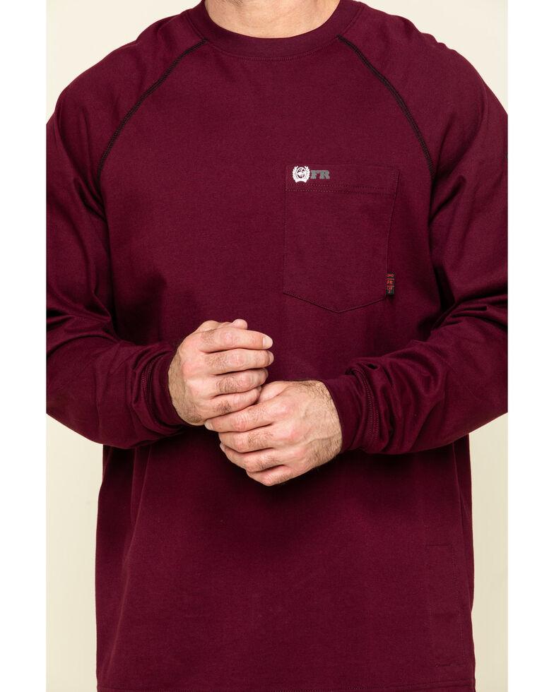 Cinch Men's FR Red Solid Long Sleeve Work Shirt , Red, hi-res