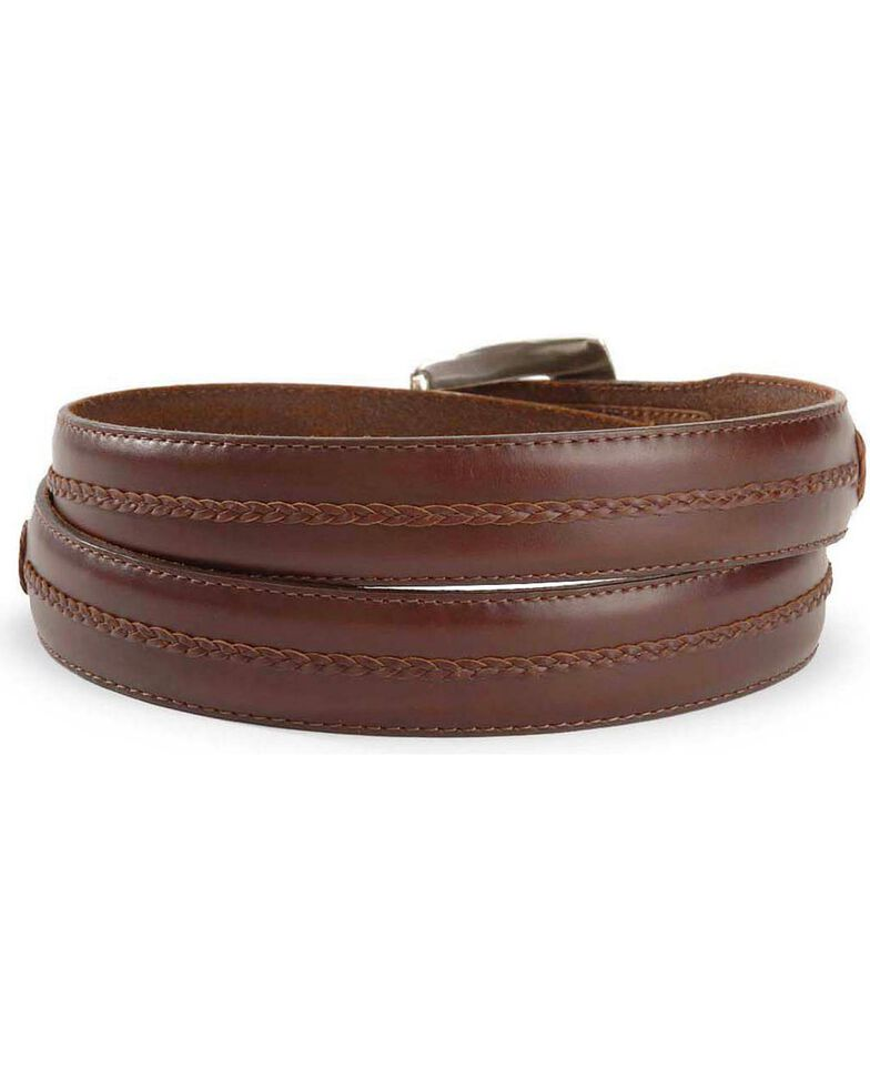 Brighton Onyx Tapered Leather Dress Belt, Brown, hi-res