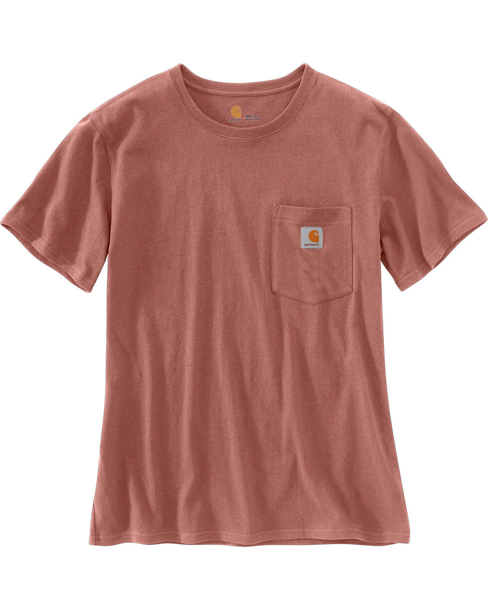 Carhartt Women's Workwear Pocket T-Shirt, Burgundy, hi-res