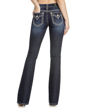 Miss Me Woman's Dark Wash Boot Cut Jeans, Blue, hi-res