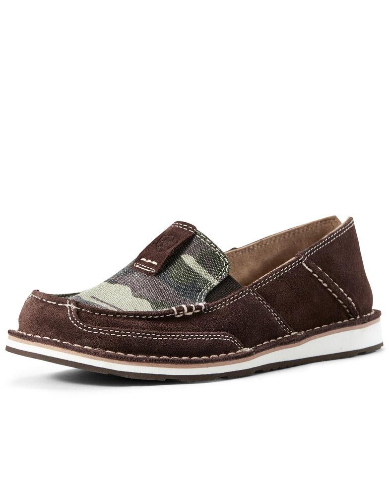 Ariat Women's Coffee Bean Cruiser Shoes - Moc Toe, Brown, hi-res