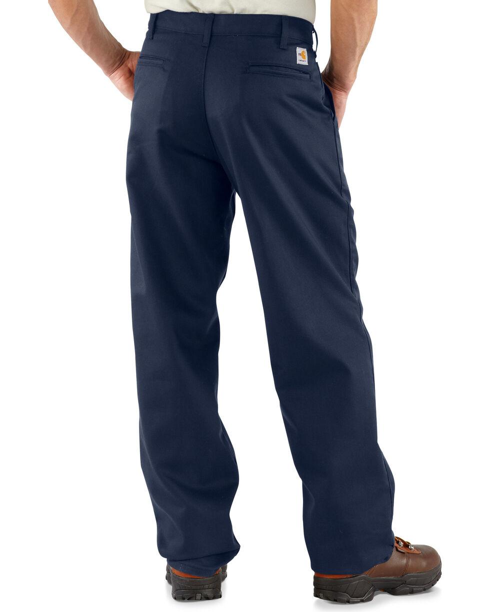Carhartt Men's Flame-Resistant Twill Work Pants, Navy, hi-res