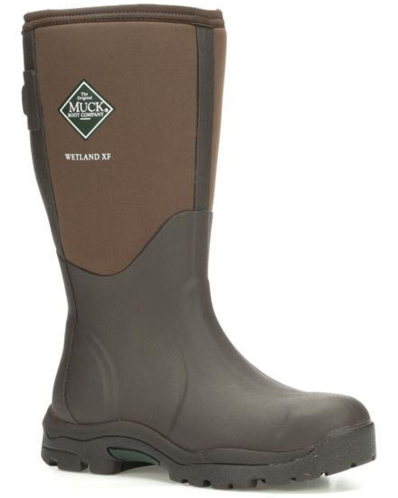 Muck Boots Women's Wetland Rubber Boots - Round Toe, Brown, hi-res
