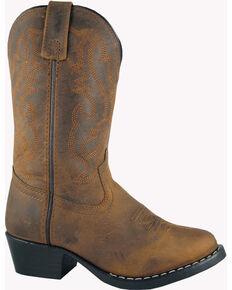 Smoky Mountain Kid's Denver Cowboy Boots, Brown, hi-res