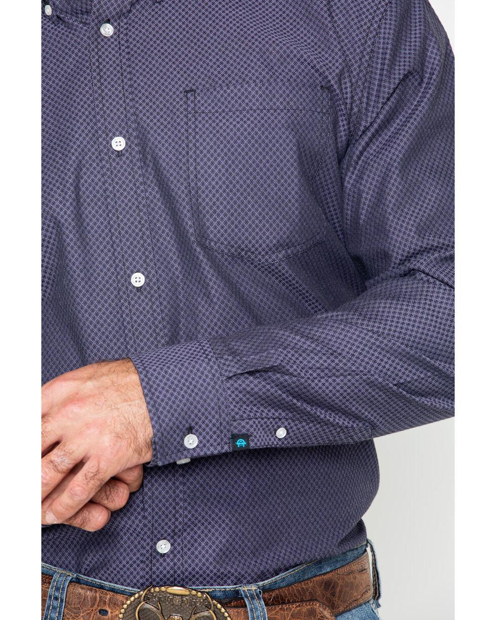 Cody James Core Men's Purple Hazy Geo Print Long Sleeve Western Shirt , Purple, hi-res