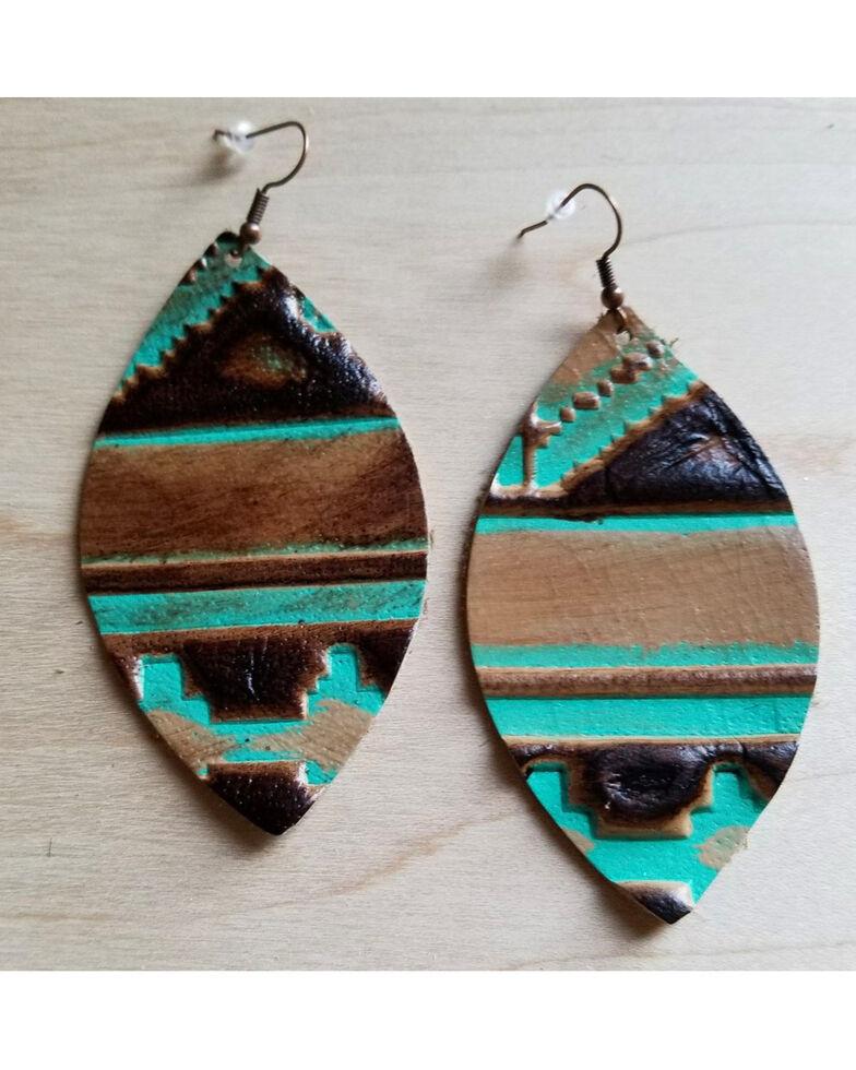 Jewelry Junkie Women S Tribal Leather Earrings Multi Hi Res