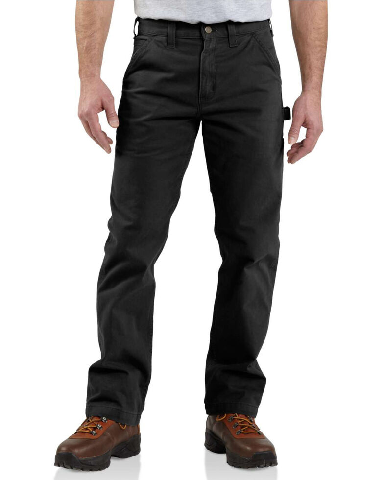 Carhartt Men's Washed Twill Dungaree, Black, hi-res