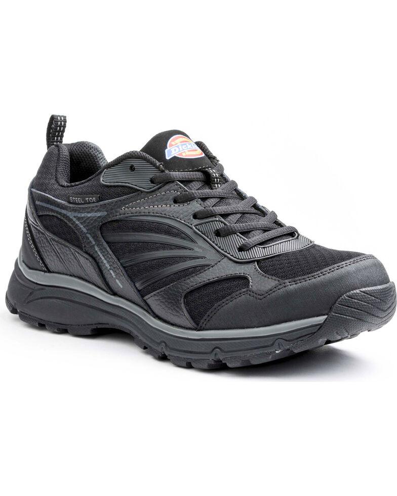 Dickies Men's Stride Athletic Work Shoes - Steel Toe, Black, hi-res