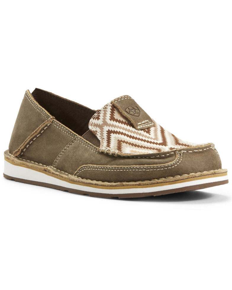 Ariat Women's Aztec Cruiser Shoes - Moc Toe, Brown, hi-res