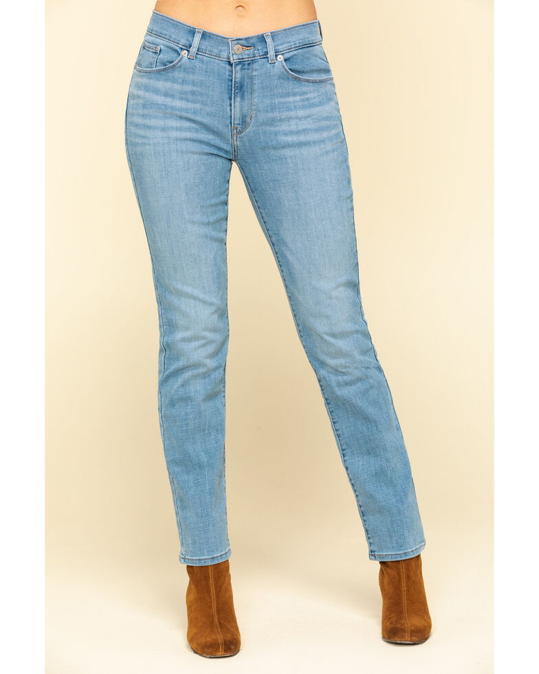 Levi's Women's Classic Light Wash Straight Jeans, Blue, hi-res