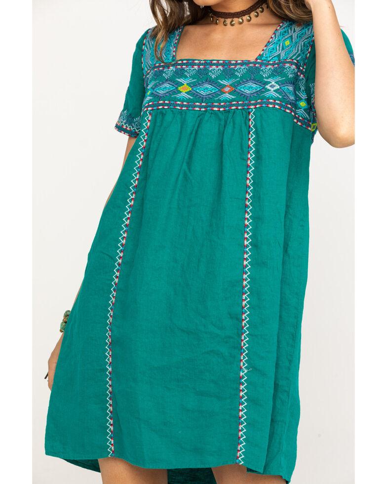 Johnny Was Women's Rich Emerald Amaris Tulum Tunic Dress, Green, hi-res