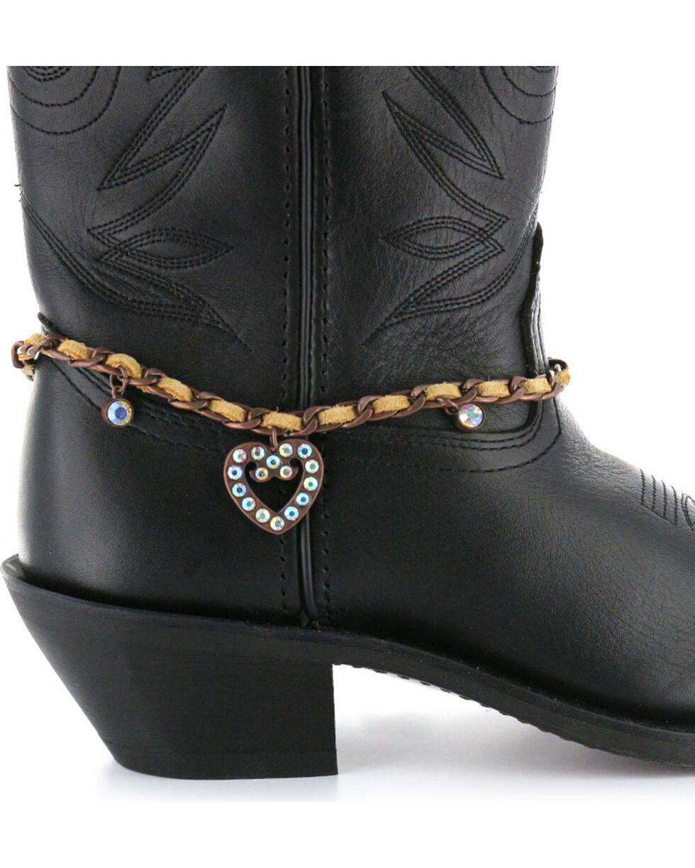 Shyanne® Women's Heart Boot Bracelet, Lt Brown, hi-res