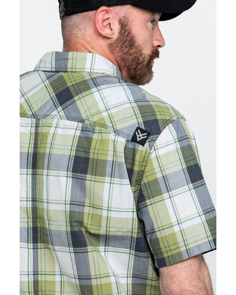 Hawx® Men's Plaid Yarn Dye Two Pocket Short Sleeve Work Shirt , Green, hi-res