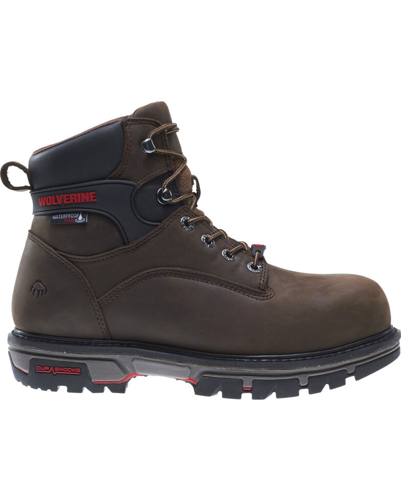 b1cc0220416 Wolverine Men's Waterproof Plus Durashock Work Boots