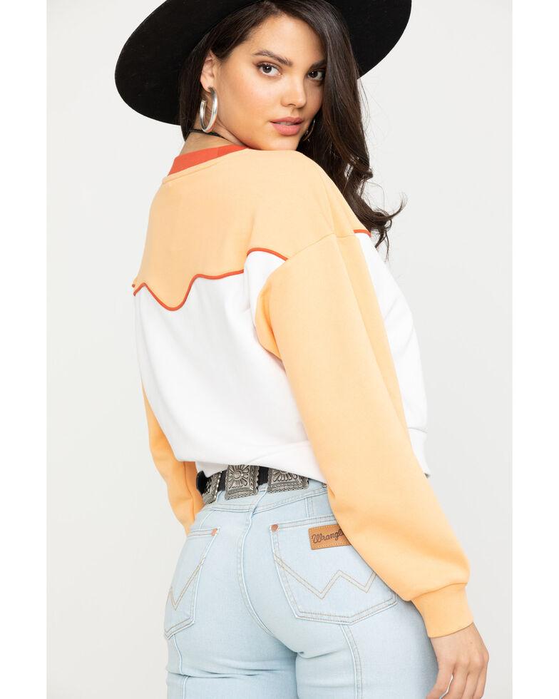 Wrangler Women's Modern 80's Peach Sweatshirt, Peach, hi-res