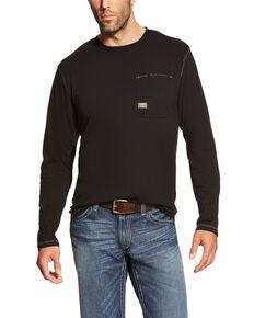Ariat Men's Rebar Workman Long Sleeve Work T-Shirt - Big, Black, hi-res