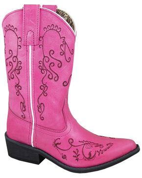 Smoky Mountain Girls' Jolene Western Boots - Snip Toe, Pink, hi-res
