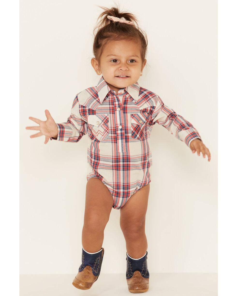 Wrangler W44118406 Baby Girls Long Sleeve Onesie Pink
