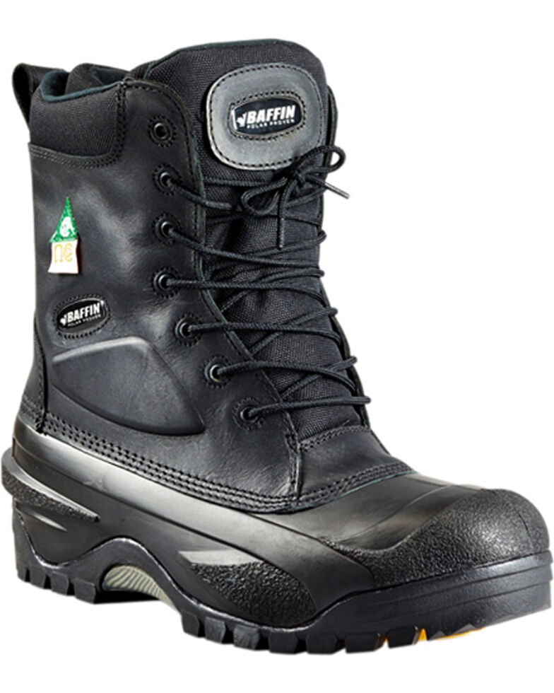 Baffin Men's Black Workhorse Safety Boots - Safety Toe , Black, hi-res