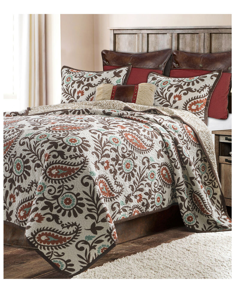HiEnd Accents Rebecca King Quilt Set, Chocolate, hi-res