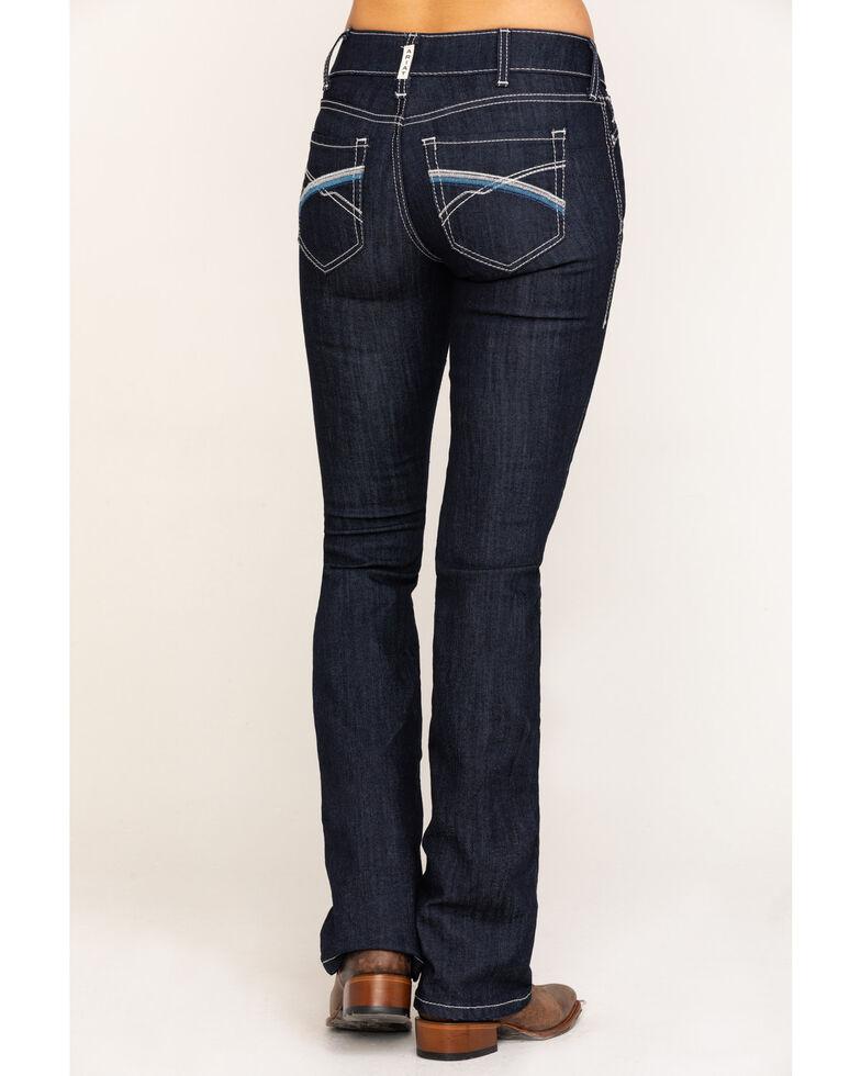 Ariat Women's Dark R.E.A.L. Savannah Bootcut Jeans, Blue, hi-res
