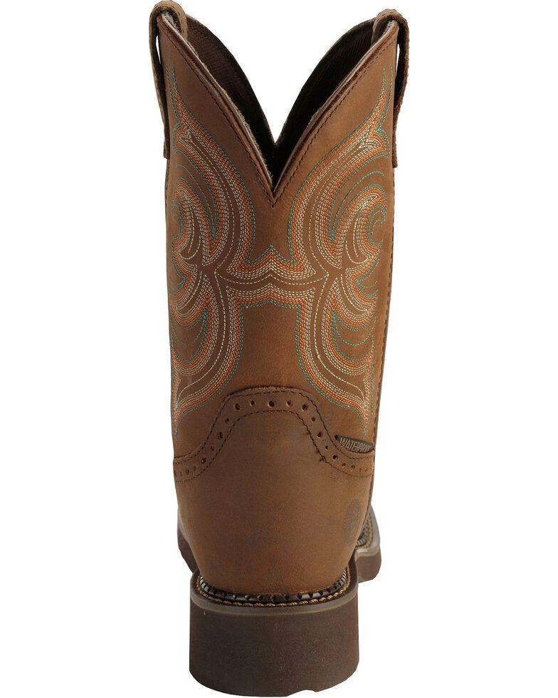 Justin Gypsy Women's Waterproof Steel Toe Work Boots, Aged Bark, hi-res
